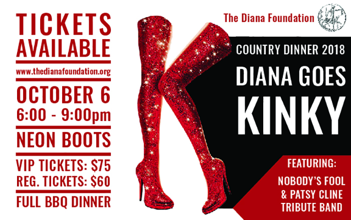 DIANA FOUNDATION COUNTRY DINNER AT NEON BOOTS