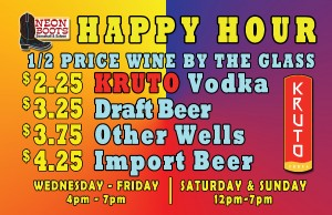 Saturday Happy Hour Until 7pm