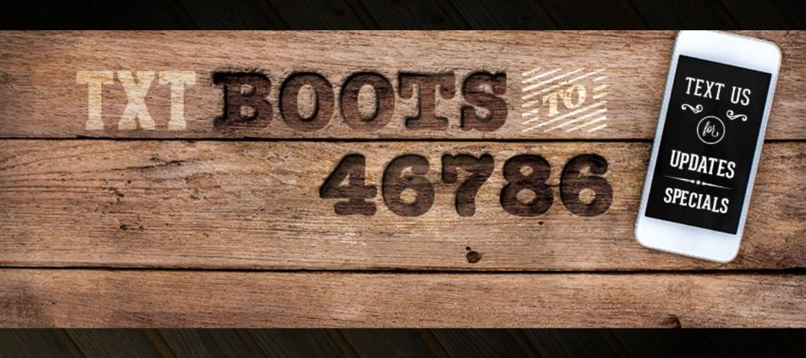 Text BOOTS to 46786