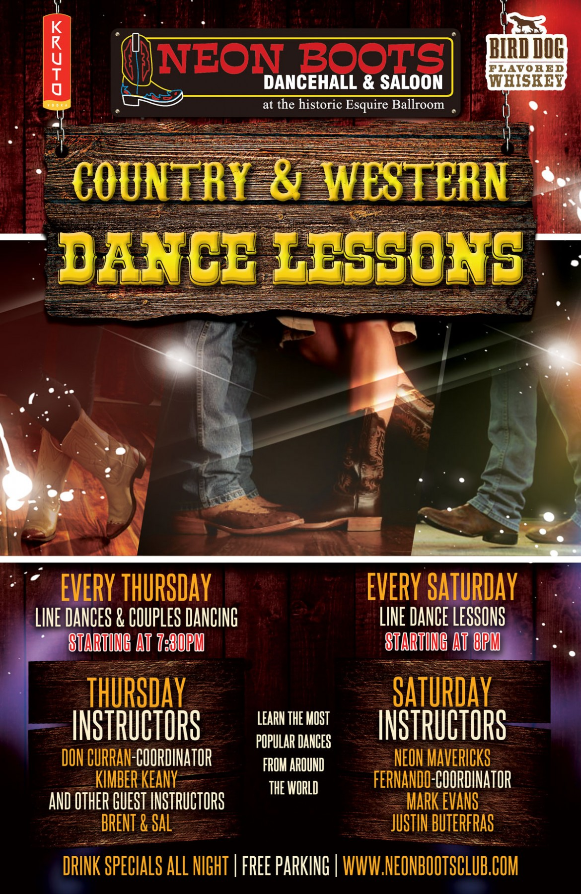 NEON BOOTS FRIDAY & SATURDAY DANCE LESSONS
