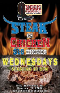 Steak & Chicken Dinner Night @ Houston | Texas | United States