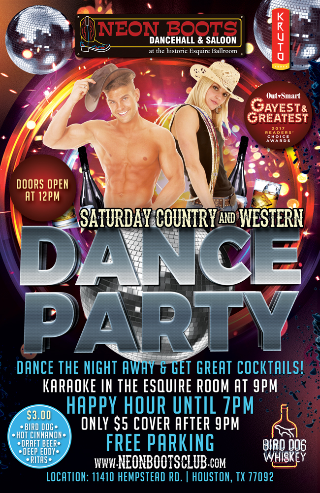 NEON BOOTS SATURDAY COUNTRY & WESTERN DANCE PARTY