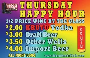 Thursday Happy Hour