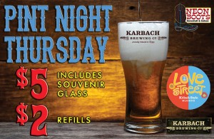 Karbach Pint Night
