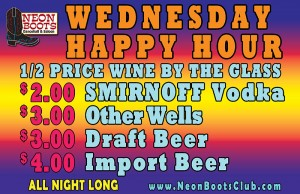 Wednesday Happy Hour ALL NIGHT LONG