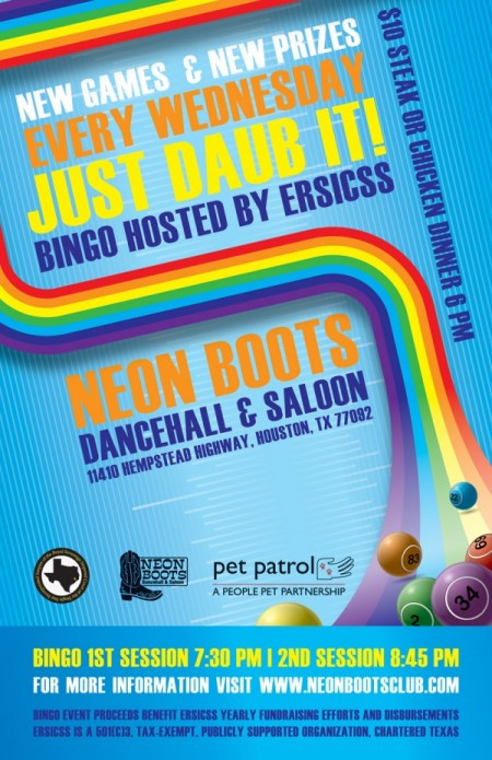 NEW & IMPROVED BINGO AT NEON BOOTS EVERY WEDNESDAY!