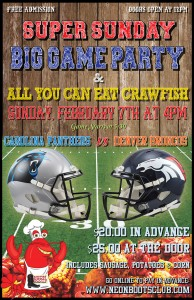 Super Sunday Big Game Party & All You Can Eat Crawfish Boil