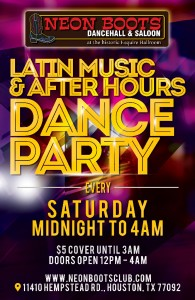 SATURDAY LATIN MUSIC AFTER HOURS PARTY