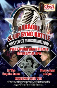 KARAOKE & LIP SYNC BATTLE WITH MARSHA MELLOW