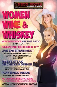 WOMEN, WINE & WHISKEY WEDNESDAY'S ON THE PATIO STARTING OCTOBER 11TH
