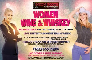 WOMEN, WINE & WHISKEY EVERY WEDNESDAY ON THE PATIO