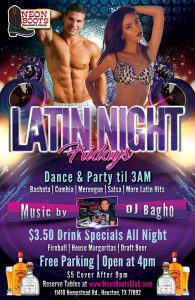 LATIN NIGHT DANCE PARTY TIL 3AM!!!