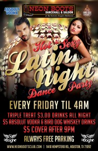 LATIN NIGHT DANCE PARTY!!!