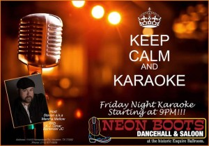 KARAOKE WITH STEVEN & DJ OMAR AT 9PM