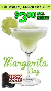 NATIONAL MARGARITA DAY $3.00 MARGARITA SPECIALS ALL NIGHT!