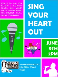 SING YOUR HEART OUT AT CHARITY KARAOKE! @ Neon Boots Dancehall and Saloon