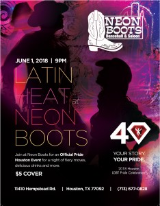 """OFFICIAL """"PRIDE LATIN HEAT"""" EVENT BY PRIDE HOUSTON!!! @ Neon Boots Dancehall and Saloon"""