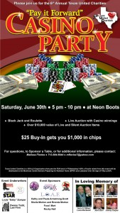 """PAY IT FORWARD"" Casino Party!"