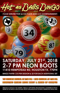 HOT AS BALLS BINGO SATURDAY JULY 21ST!