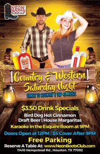 SATURDAY COUNTRY & WESTERN DANCE PARTY!!!