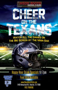 CHEER ON THE TEXANS vs COWBOYS SUNDAY OCTOBER 7th!