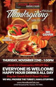 JOIN US FOR A COMPLIMENTARY THANKSGIVING POTLUCK!