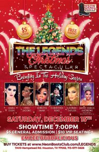 THE LEGENDS CHRISTMAS SPECTACULAR SHOW!