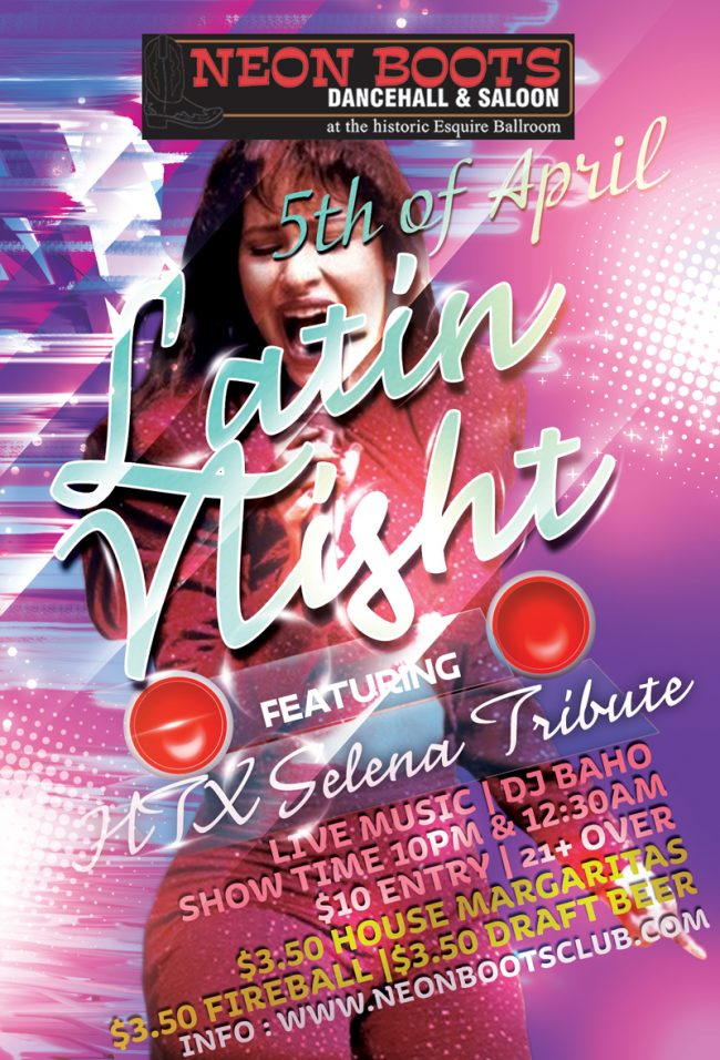 Neon Boots Dancehall & Saloon | SELENA TRIBUTE Latin Night & LIVE