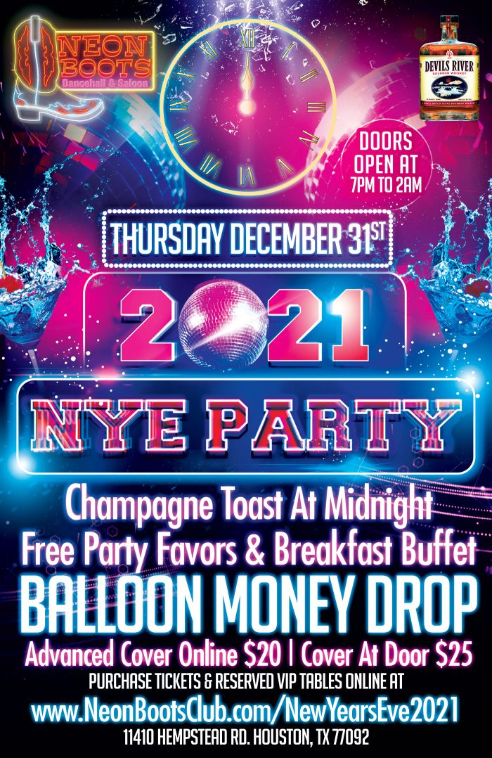2021 NEON BOOTS NEW YEAR'S PARTY
